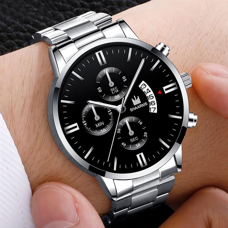2021 Men luxury business Military Quartz watch golden stainless steel band men watches Date calendar