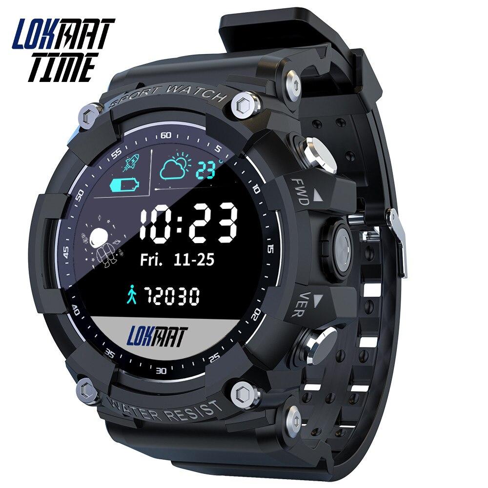 Lokmat الرياضة ساعة ذكية هجوم 2 كامل شاشة تعمل باللمس جهاز تعقب للياقة البدنية IP68 مقاوم للماء في الهواء الطلق النشاط ساعة ذكية es للهواتف