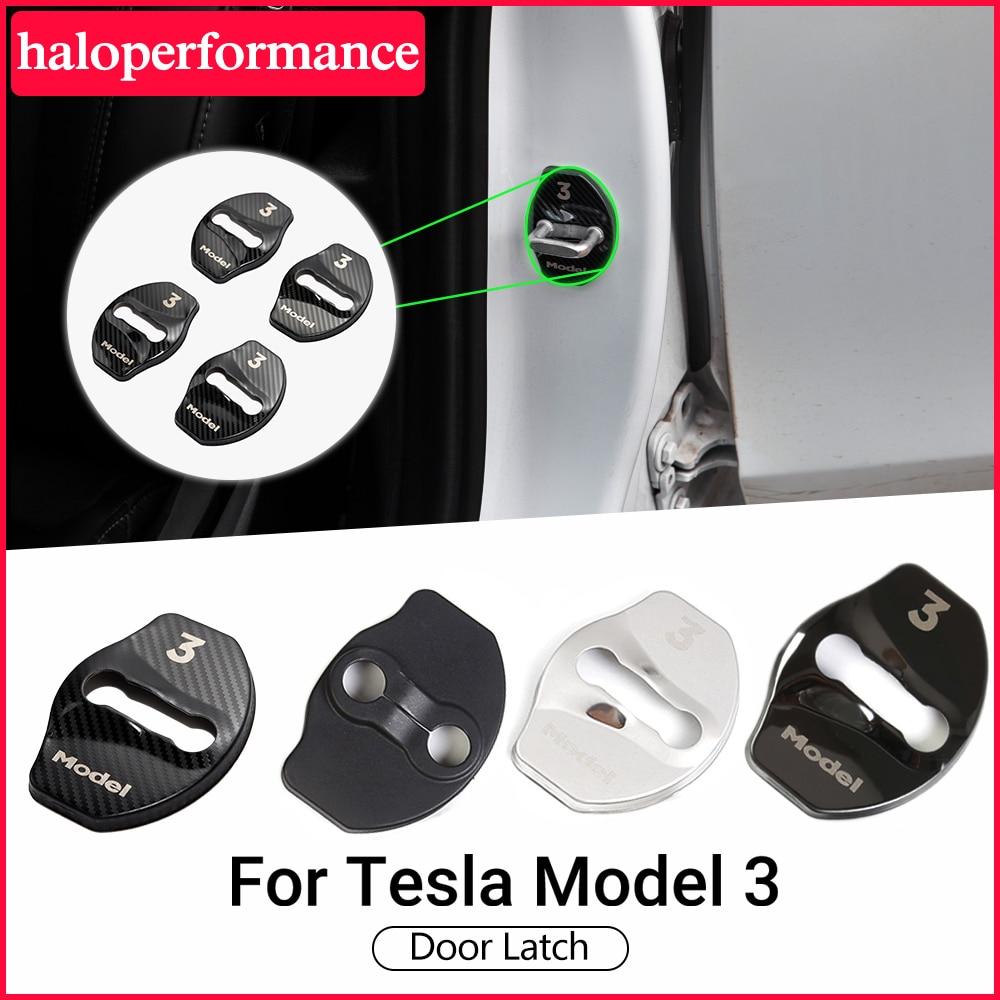 AliExpress - New Model3 Car Door Cover For Tesla Model 3 2021 Accessories Model Y Carbon Fiber Aluminium Alloy Model Three Accessory