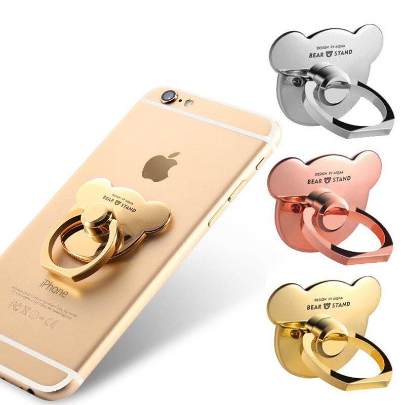 Gran oferta soporte Universal para teléfono móvil soporte de anillo de dedo soporte de Metal de 360 grados para iPhone X XS 8 7 6 6S almohadilla