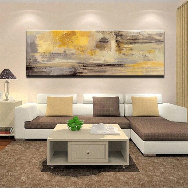 Moderno abstracto dourado amarelo azul pintura da lona cartazes e impressões cuadros arte da parede imagens para sala de estar decoração casa