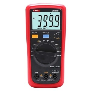 UNI T UT136B+ Digital Multimeter DMM AC DC Ohm Capacitor Diode tester Data hold Auto-power off ,With HFE And NCV,2 meters drop p