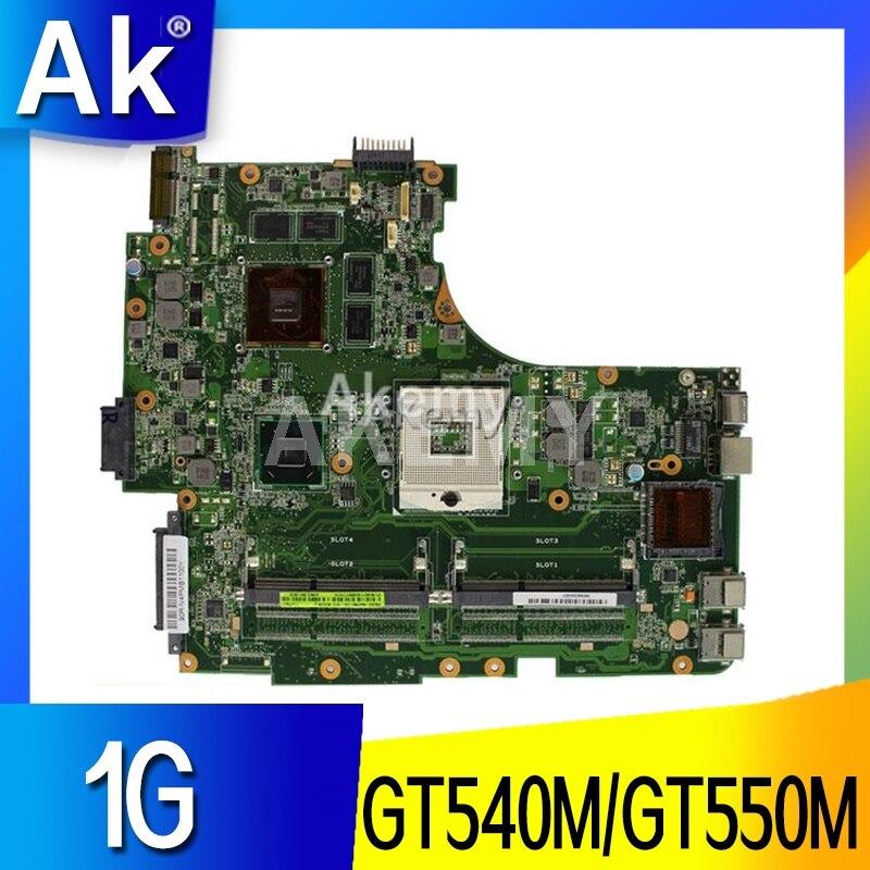 لوحة أم للكمبيوتر المحمول AK N53SV لـ ASUS N53SV N53SN N53SM N53S N53 لوحة أم أصلية اختبار GT540M/GT550M 1GB