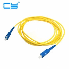 Sc Naar Sc Fiber Patch Cord Jumper Kabel Sm Simplex Single Mode Optic Voor Netwerk 1M 2M 3M 5M 10M 25M 45M 30M 50M 10ft 16ft 33ft