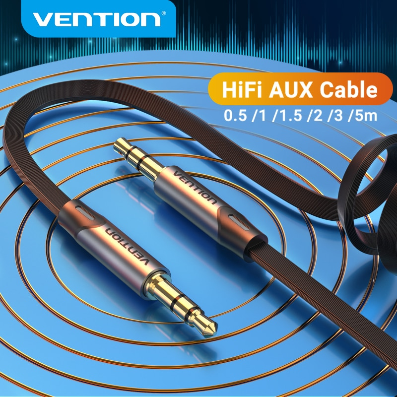 Vention Jack 3.5mm Aux Cable Male to Male 3.5mm Audio Cable Jack for JBL Xiaomi Oneplus Headphones S