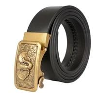 western elephant auto buckle men leather belt high quality retro jeans business men belt