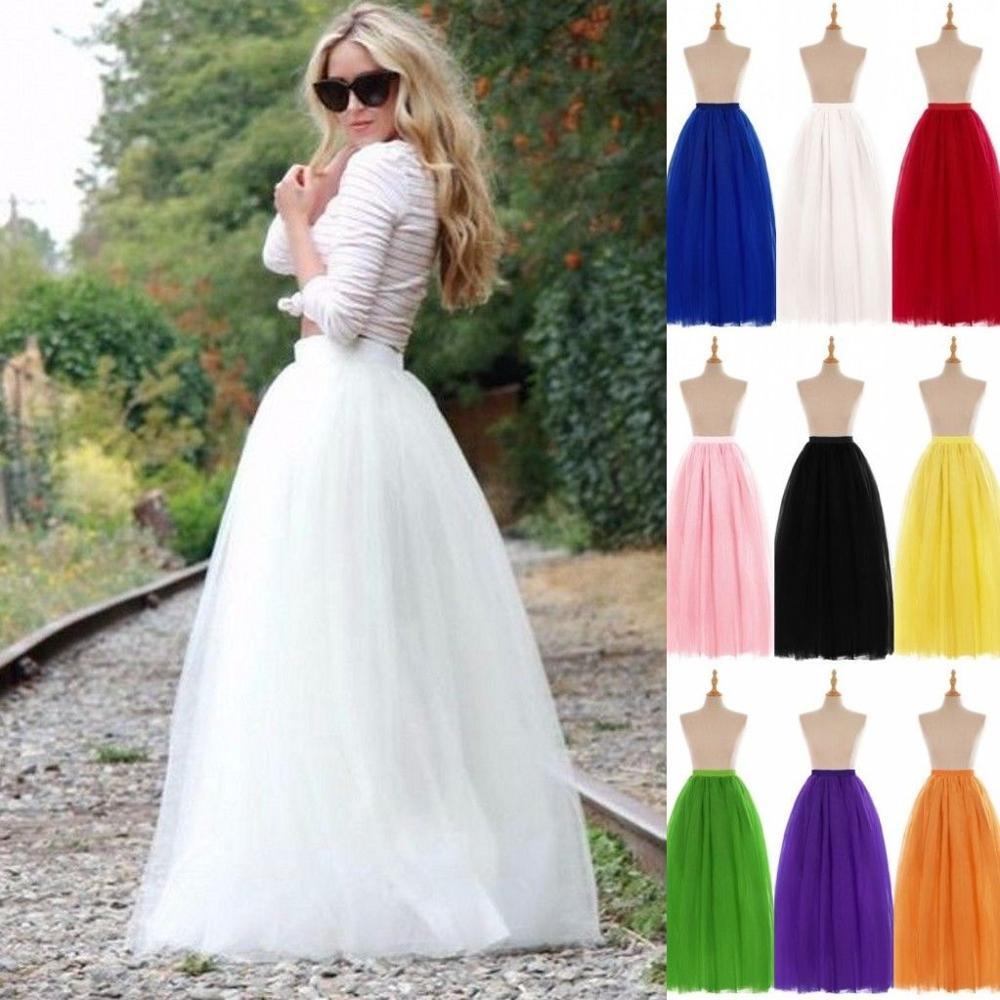 White Hoopless Wedding Petticoat Long Crinoline Tulle Underskirt A Line Woman Tutu Skirt Rockabilly Bridal Accessories 2020