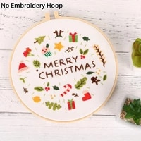 diy embroidery beginners kits pre printed floral pattern cross stitch needlework handmade sewing art craft painting home decor