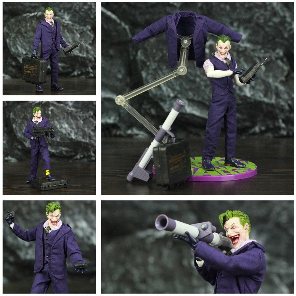 "Uno 12 d. C. El Joker 6 ""ROPA DE figura de acción caballero oscuro Hombre Murciélago villano Eric Border Jack Napier 1/12 112 cómic película juguetes muñeca"