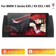 Android 10.0 Navigation voiture sans DVD GPS multimédia pour BMW E39 X5 E53 M5 E38 BT/RDS/Radio/Canbus TPMS DVR SWC DAB + 4G USB DTV OBD2