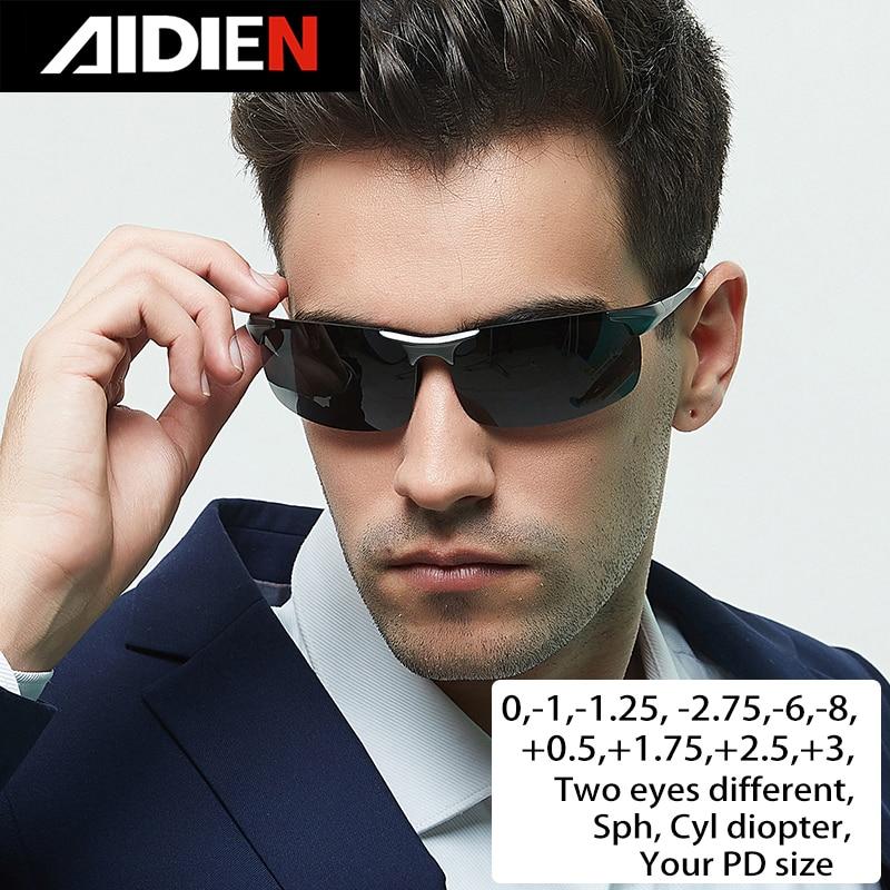 نظارات قصر النظر الديوبتر SPH-0.5-1-1.5-2-2.5-3-3.5-4-4.5-5-5.5-6.0 CYL men drive نظارات شمسية بوصفة طبية