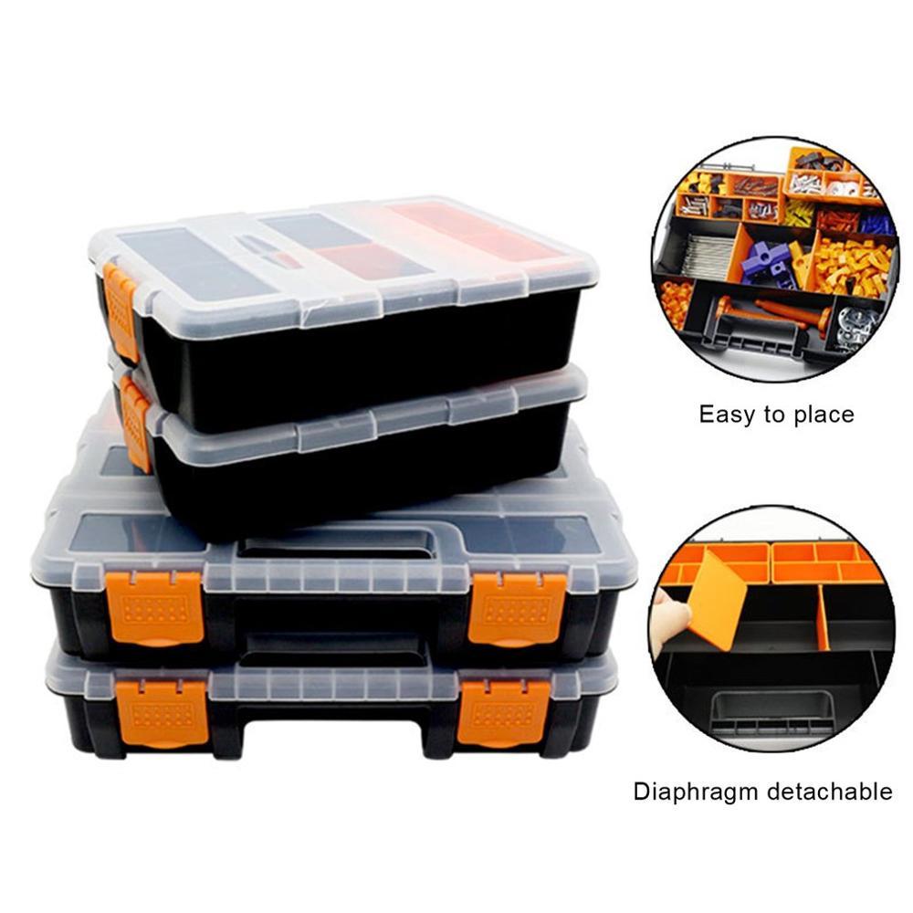 Ferramentas multifunções parafuso de ferramentas peças caixa de armazenamento manutenção eletricista caixa de ferramentas de reparação de automóveis acessórios anti-queda