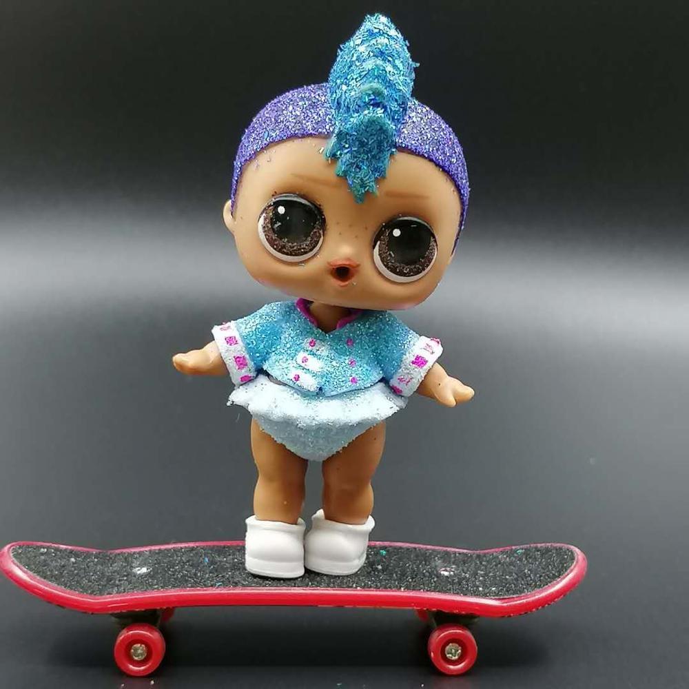 Оригинальные куклы LOLs Punk Boy L.O.L. Сюрприз! 8 см кукла с нарядами скейтборд обувь Дети Девушки подарки игрушки