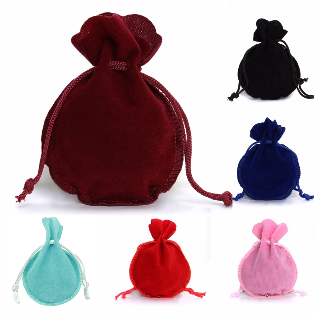 1-10pcs/lot Drawstring Velvet Bag Drawstring Calabash Pouch Jewelry Packaging Bag Wedding/Christmas Favor Pouches & Gift Bags 30pcs lot 2size translucent packaging bag plastic bags pouches wrappers cupcake 8 5x23cm