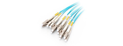 5m MTP MPO Patch Cable OM3 Female to 6 LC UPC Duplex 12 Fibers Patch cord 12 Cores Jumper OM3 Breakout Cable, Type A, Type B enlarge