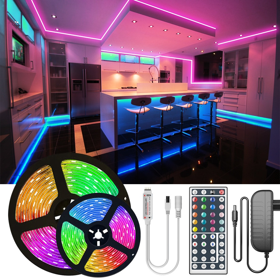 30M 25M RGB LED Strip Light 2835 10M 5M LED Lights SMD 5050 rgb Leds tape diode ribbon Flexible Wate