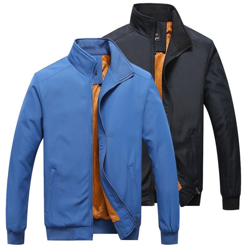 Brand Men's Jacket Autumn Winter Fashion Warm Cotton Coat Quality Casual Thickening Bomber Jacket Man Streetwear Warm Clothing