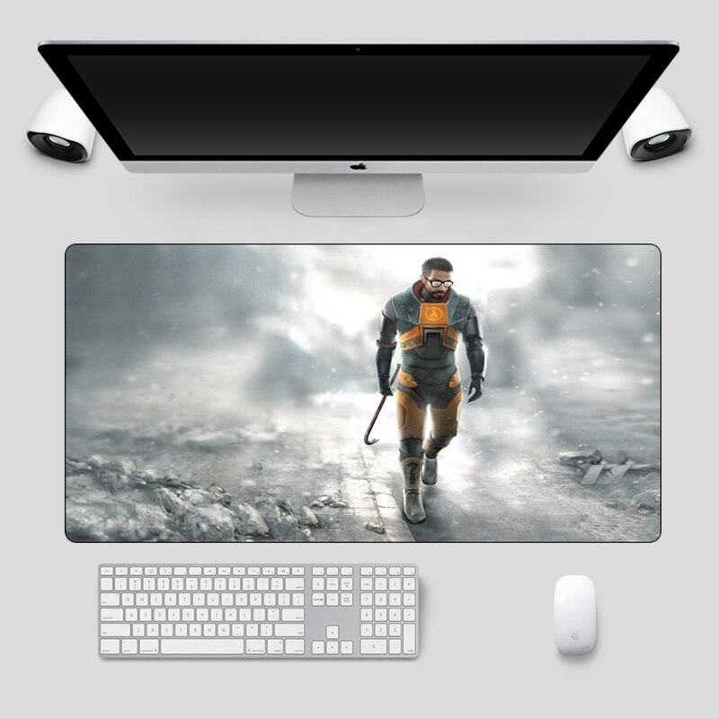 60x30cm gran Half Life ratón Gamer XL de teclado de Borde de bloqueo Otaku Juegos de ordenador alfombrilla ratón PC Accesorios