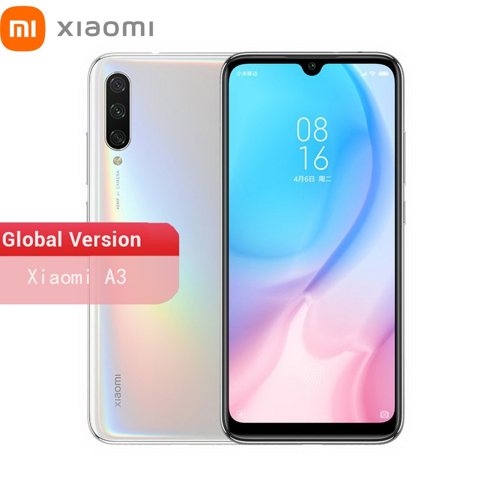 Original Global Version Xiaomi Mi A3 4GB 64GB Snapdragon 665 4G Smartphone 6.088 Inch Ouch Screen 48MP Triple Camera 4000mAh