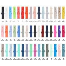 5pcs Farben Silikon Riemen 44mm 42mm Armband Armband Bands für Apple Uhr Serie 5 4 3 2 1 X7 X6 T55 T500 W98 Sport Strap