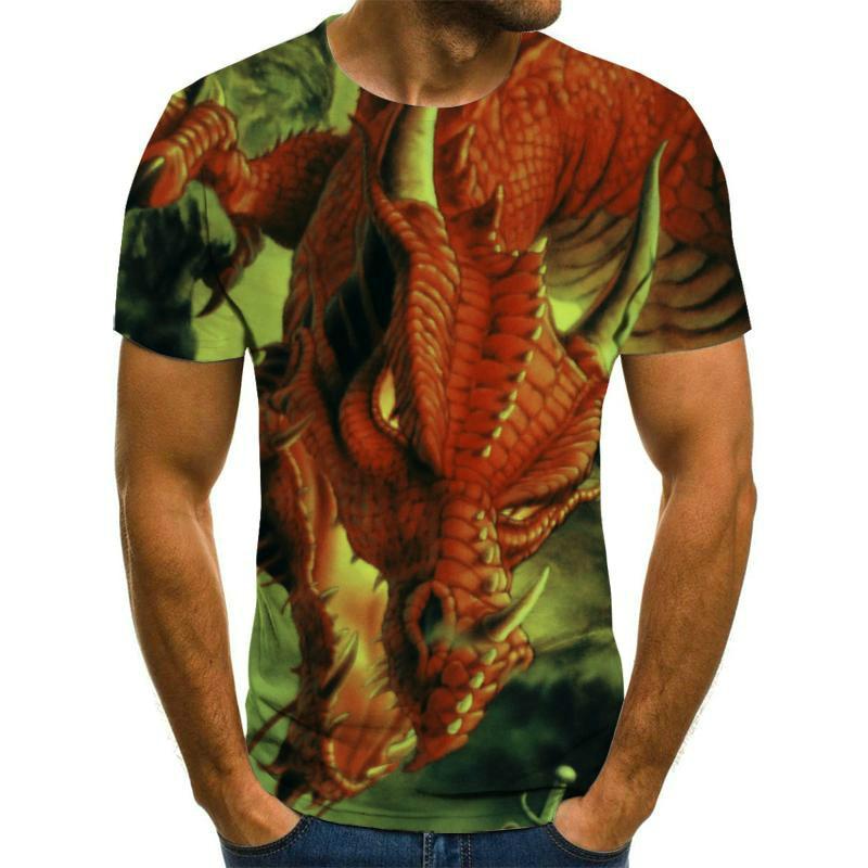 Spring and summer 3D printing men's t-shirts high quality hip-hop shirts street clothing interesting t-shirts punk clothes 2021