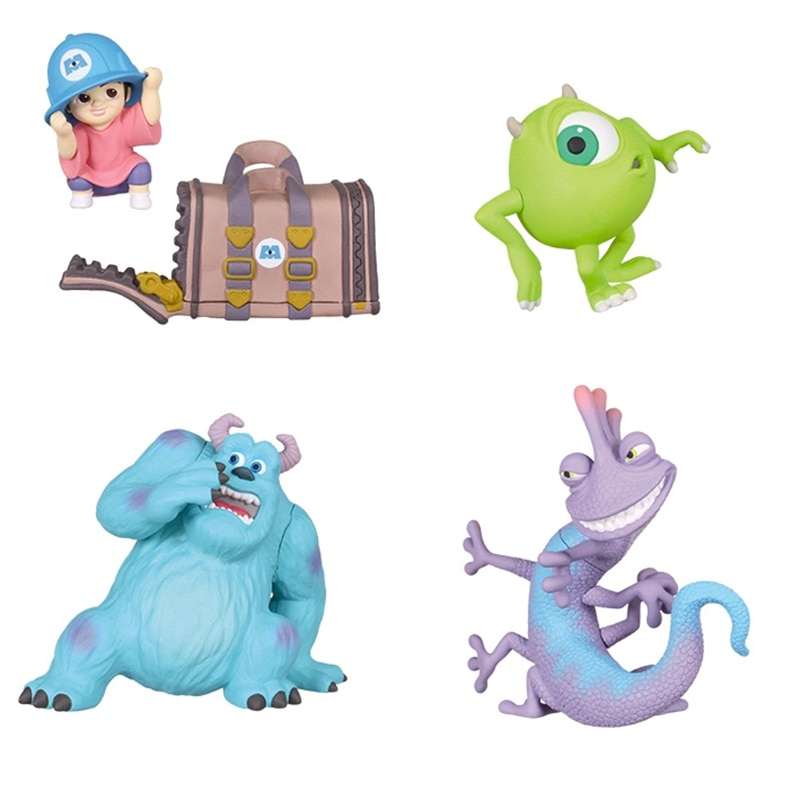 Disney monsters inc. james p. Sullivan randall boggs mike figura de ação brinquedos decoração do carro anime coleção brinquedo presente para crianças