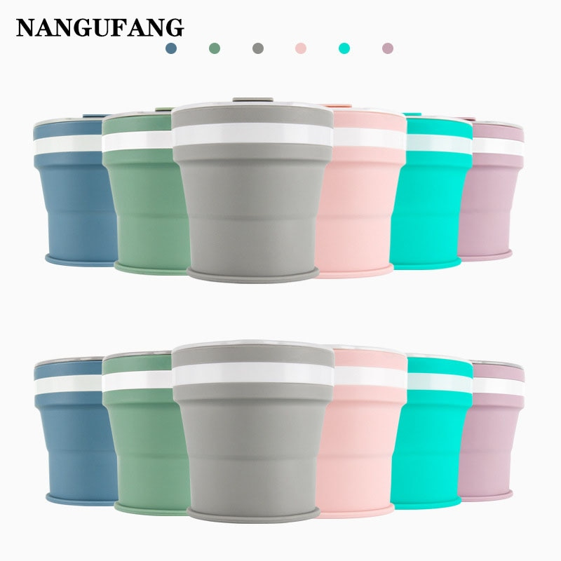 350ML Silicone Folding/Retractable Cup Home Business Travel Outdoor Travel Washing Cup Portable Retractable Coffee mug