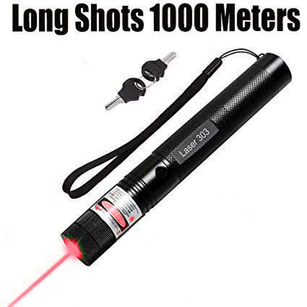 8000m Red Laser Sight Laser 303 Pointer High Powerful Device Adjustable Focus Lazer Laser Pen Head enlarge