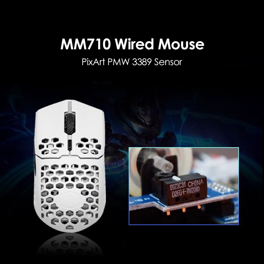 برودة ماستر MM710 الألعاب ماوس 7 جير 16000 ديسيبل متوحد الخواص العسل شل USB السلكية الفئران حاسوب شخصي مكتبي مستلزمات الكمبيوتر اكسسوارات