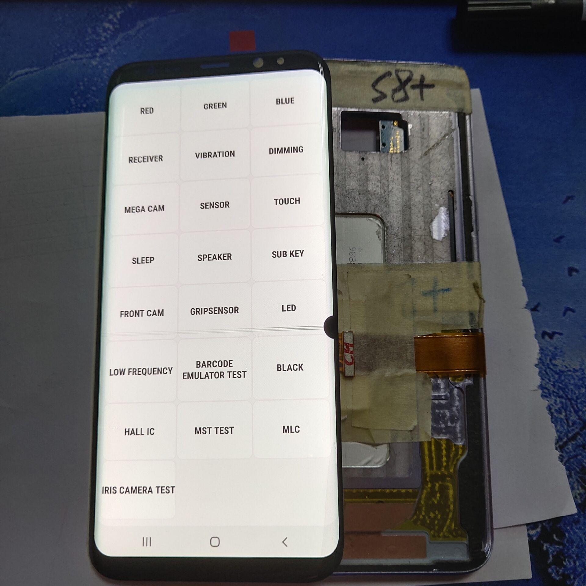 Original used Line point Burn For SAMSUNG Galaxy S8 G950 G950F LCD Display S8 Plus G955 G955F LCD Display Touch Screen Digitizer enlarge
