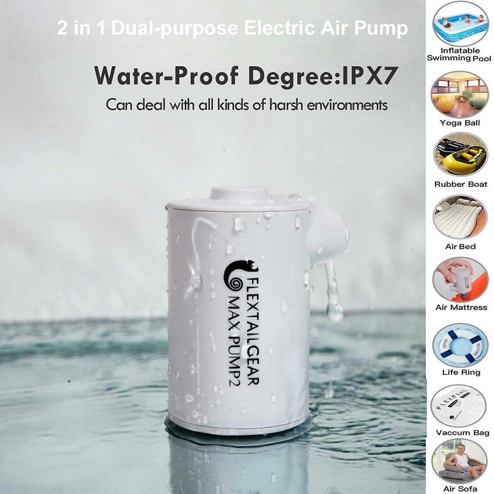 Многофункциональный портативный электрический воздушный насос для путешествий, насос для надувной лодки, кровати, матраса, бассейна, аквар...