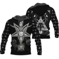 2020 latest fashion satan 3d all over hoodiessweatshirtzip print unisex jacket funny streetwear hoodie tops 136