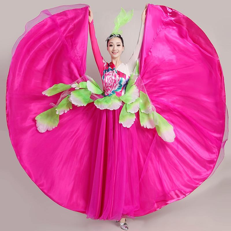 زي الفلامنكو الاسباني للنساء ، تنورة رقص شرقي ، غجري ، مقاس 360/540/720 درجة ، DL6139