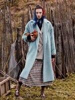 fur grade high end alpaca cashmere overcoat womens mid long 2021 new albaca wool overcoat