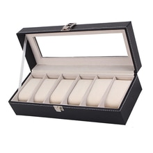 6 Wrist Watches Box Window Organizer Box for Save 6 Wrist Watches Case Boxes Jewelry Display Case St