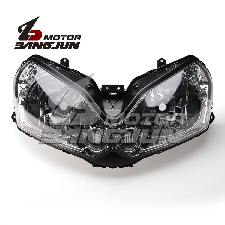 مجموعة مصابيح المصباح الأمامي ، أسود ، لدراجة كاواساكي النارية ZG1400 GTR1400 2008 2009 2010 2011 2012 2013 2014