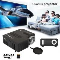 Mini projecteur portatif UC28CB 500LM Home cinema cinema multimedia videoprojecteur LED prise en charge USB TF carte ue US