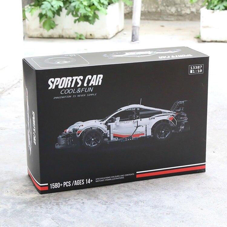 1580 pces esporte carro rsr decool 13387 alta-tecnologia compatível 42096 20097 90066 carro de corrida modelo blocos de construção brinquedo para presentes do menino