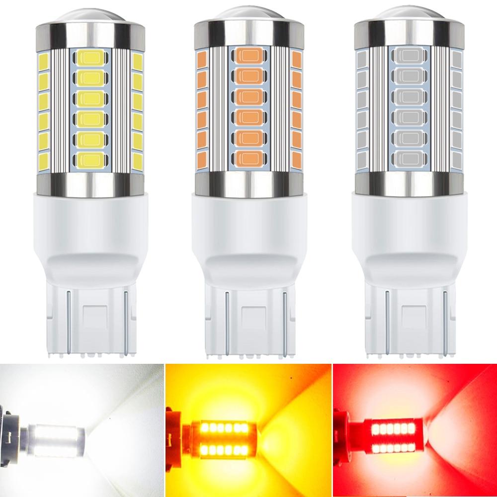 Luces LED traseras T20 7443 1156 BA15S P21W para Volkswagen Golf 4 5 6 7 GTI Polo Passat B5 B6 B7 CC Sharan Jetta 3157