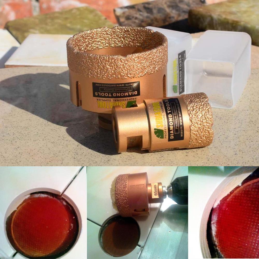 SHDIATOOL 1pc M14 thread Vacuum Brazed Dry Diamond Drilling Core Bits  Ceramic Tile Hole Saw marble porcelain stone drill bit