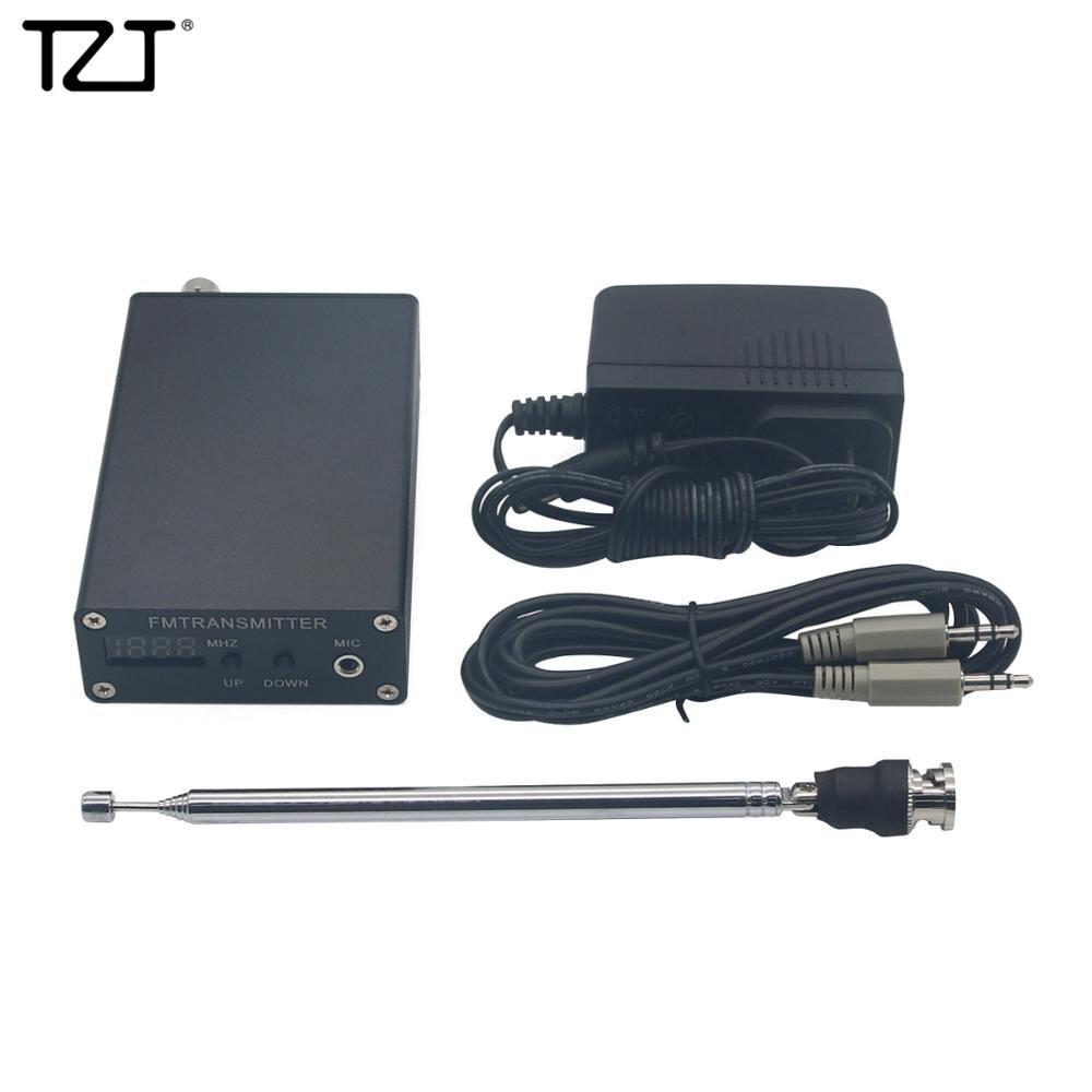 TZT 1mW PLL ستيريو FM MP3 الارسال محطة راديو صغير 87-109 ميجا هرتز ث/محول الطاقة هوائي درع سلك