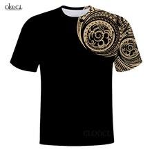 CLOOCL ไวกิ้ง Tattoo Polynesian สไตล์3D พิมพ์ Mens T เสื้อ Harajuku ฤดูร้อนแขนสั้น Casual Unisex เสื้อ Drop Shipping