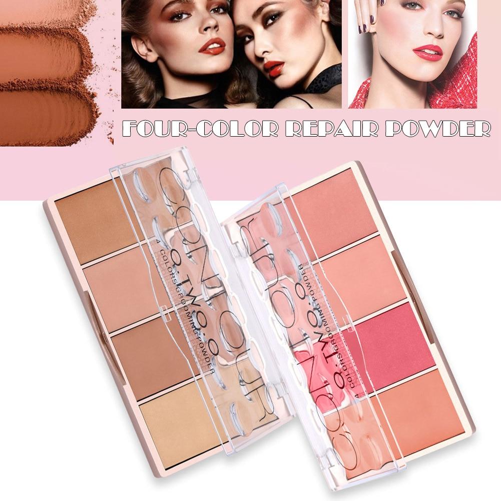 4 colores corrector paleta base de maquillaje facial contorno paleta base corrector polvo MH88
