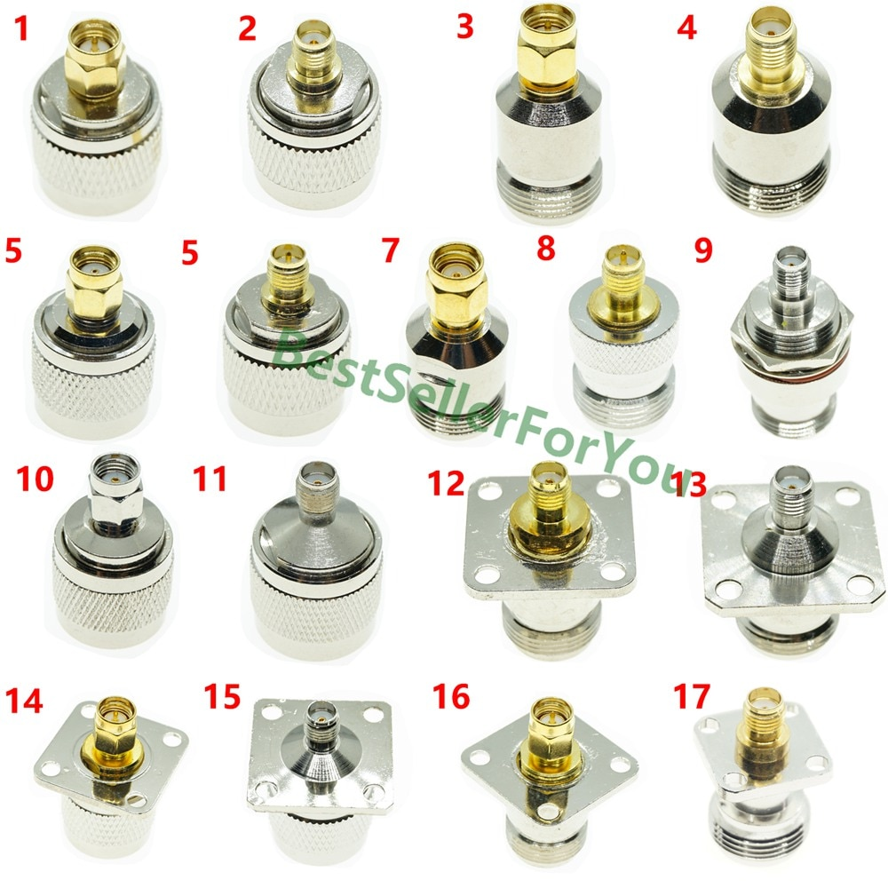 1Pcs N Type Male Female To RP-SMA/SMA Male Female RF Connector Adapter Test Converter