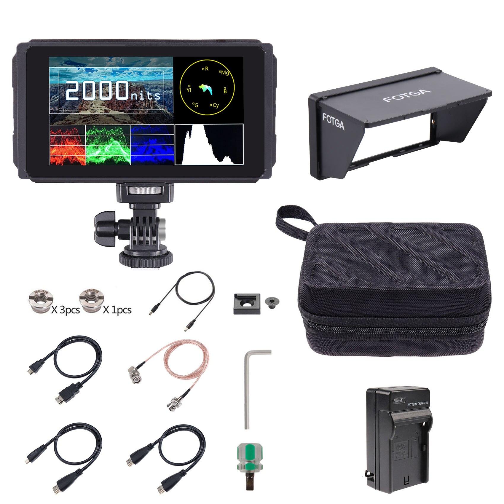 Fotga C50-شاشة عرض ميدانية لكاميرا 3G SDI 3D-LUT ، شاشة عرض مع شاشة تعمل باللمس ، IPS HD 2000nit ، 5 بوصة
