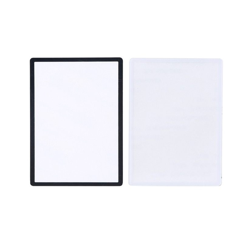 Para novo 3ds ll 3dsxl substituição preto branco superior moldura da tela frontal lente capa painel protetor de tela lcd para 3ds xl ll 1pc