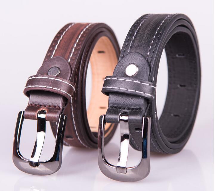 Child formal dress boys teenage belt designer kids PU leather fashion elastic belt buckle black Leisure strap Casual Belt GG