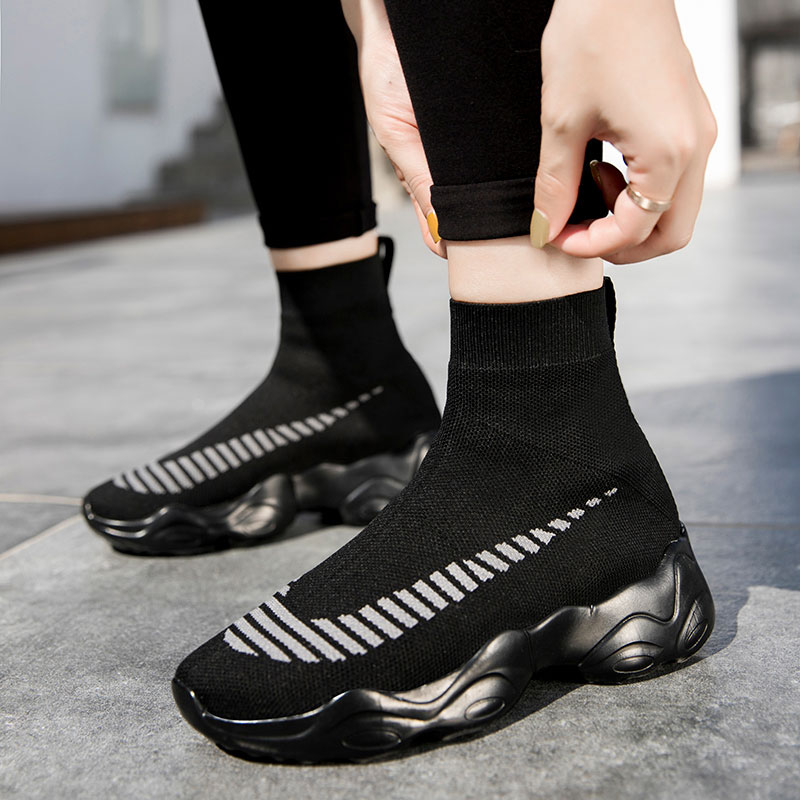 Zapatos de calcetín informales para Mujer, botas Deportivas cómodas para caminar