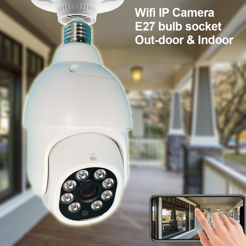 Ycc365plus في الهواء الطلق واي فاي كاميرا E27 لمبة إضاءة PTZ سرعة قبة المراقبة بالفيديو 1080P IP أمن الوطن CCTV الأشعة تحت الحمراء للرؤية الليلية