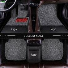 Skórzana mata podłogowa dla Suzuki wszystkie modele Grand Vitara Kizashi Swift JIMNY Wagon alivio SX4 X5 LANDY akcesoria samochodowe